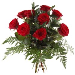 Bukiet 9 róż czerwonych