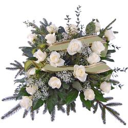 Wiązanka pogrzebowa Pogrążeni w żalu Telekwiaciarnia